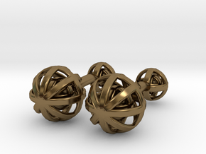 Spheres Cufflinks in Polished Bronze