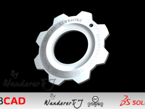 Gears of War Cog Tag v2 in Polished Bronzed Silver Steel