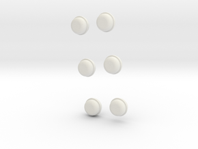 Wheel-caps-6mm-deep in White Strong & Flexible