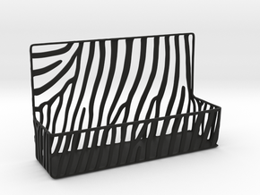Zebra Business Card Holder in Black Natural Versatile Plastic