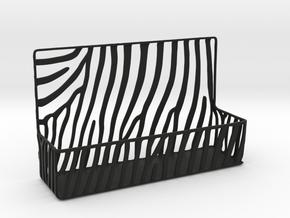 Zebra Business Card Holder in Black Natural Versatile Plastic