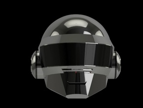 Daft Punk Thomas SMILEY helmet - 2mm wall in White Strong & Flexible