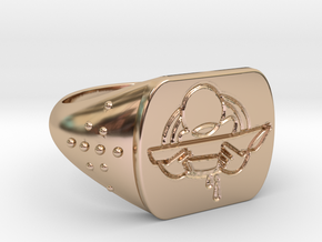 Rolling in 14k Rose Gold Plated Brass