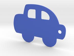 Car keychain in Blue Processed Versatile Plastic