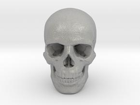 33mm 1.3in Human Skull (23mm/.9in wide) in Aluminum