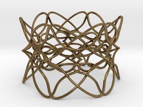 Bracelet the pattern in Polished Bronze