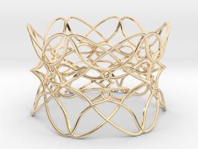 Bracelet the pattern in 14k Gold Plated Brass