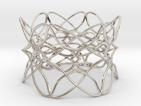 Bracelet the pattern in Rhodium Plated Brass