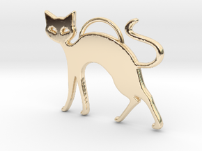Slinky Cat in 14K Yellow Gold