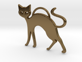 Slinky Cat in Polished Bronze