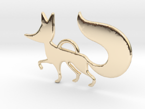 The little Fox in 14K Yellow Gold