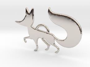 The little Fox in Rhodium Plated Brass