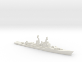Mitscher class DL, 1974, 1/3000 in White Natural Versatile Plastic