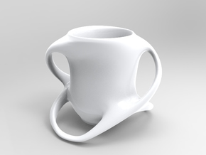 Cup with Four Handles in White Strong & Flexible