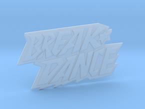 Magnetaufsatz Break Dance Logo  in Smooth Fine Detail Plastic