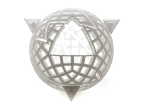 Spheramid Puzzle in White Natural Versatile Plastic