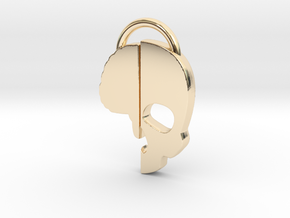 Brainkase Keychain in 14K Gold