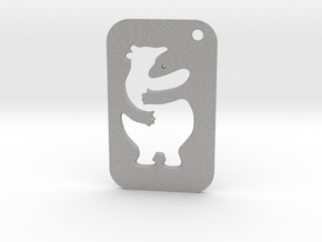Bear Tag in Aluminum
