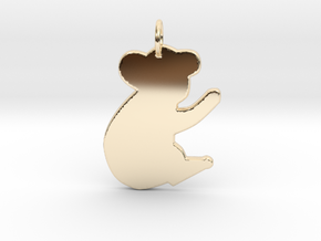 Koala Bear in 14k Gold Plated Brass