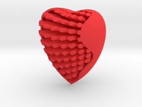 Heart in Red Processed Versatile Plastic