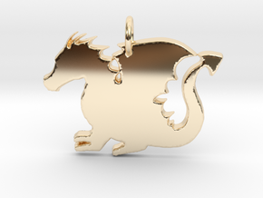 Baby Dragon in 14K Yellow Gold