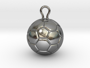 Soccer Ball 2016 in Polished Silver