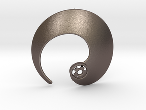 Enso No.1 Pendant in Polished Bronzed Silver Steel