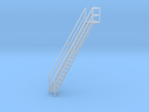 "1/64th ""S"" Scale Grain Leg/Tower Stair Section in Smooth Fine Detail Plastic"