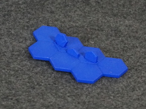 Hex-tile Card holder in Blue Processed Versatile Plastic