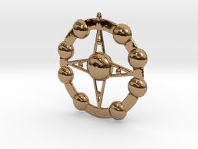 Astēr Planētēs - Pendant in Polished Brass
