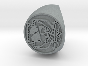 Custom Signet Ring 23 V2 in Polished Metallic Plastic