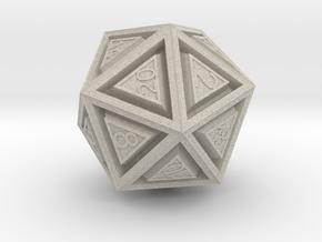 Dice: D20 in Natural Sandstone