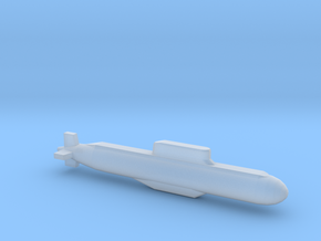 032 submarine, Full Hull, 1/1800 in Smooth Fine Detail Plastic