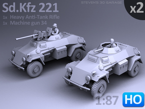 Sd.Kfz 221 (2 pack) HO in Frosted Ultra Detail