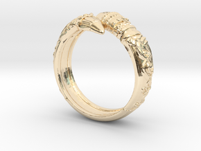 Artist's Pencil Ring 6.5 in 14K Yellow Gold