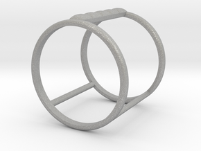 Model Double Ring B in Aluminum