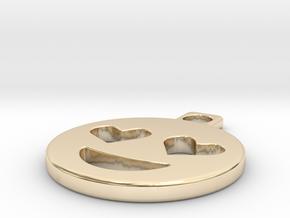 emoji in 14k Gold Plated Brass