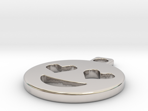 emoji in Rhodium Plated Brass