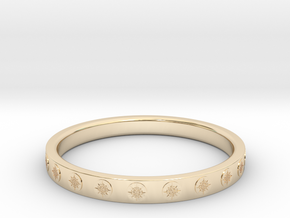 Ø0.687/Ø17.45 mm Maya Sun Ring  in 14k Gold Plated Brass