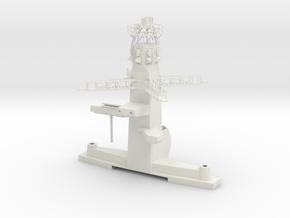 1/96 : 1/100 scale Type 23 British Navy Main Mast in White Natural Versatile Plastic
