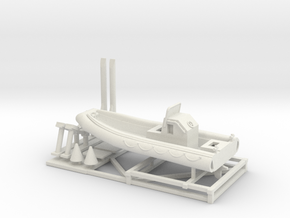 1/72 Scale 23 foot Navy Boat RHIB (RIB) in White Natural Versatile Plastic