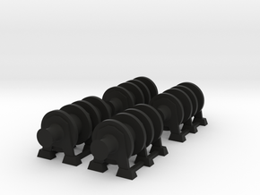 1/96 Scale Winches for Merchant Ship in Black Natural Versatile Plastic
