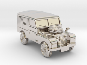 TT Gauge - Four By Four Landrover in Rhodium Plated Brass