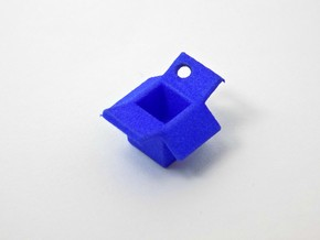 Open Box Keychain Charm in Blue Processed Versatile Plastic