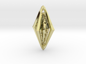Rune Diamond in 18k Gold Plated Brass