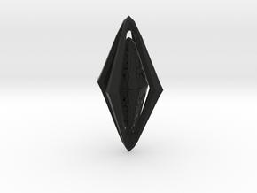 Rune Diamond in Black Natural Versatile Plastic