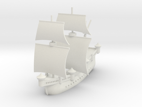 1/700 Fleet Carrack in White Natural Versatile Plastic