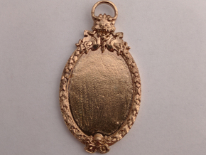 Scary Manor Cameo in Natural Bronze