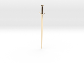 Sword in 14k Gold Plated Brass
