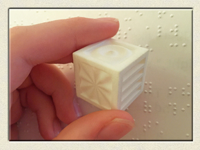 Quadruplets! Tactile Texture Dice, hollow in White Processed Versatile Plastic